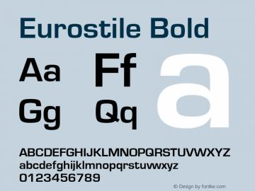 Eurostile Bold Version 1.51图片样张