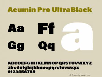AcuminPro-UltraBlack Version 1.011图片样张