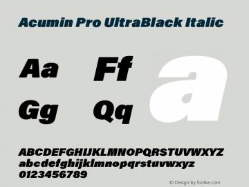 AcuminPro-UltraBlackItalic Version 1.011图片样张