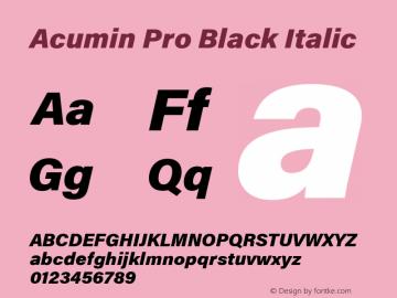 AcuminPro-BlackItalic Version 1.011图片样张