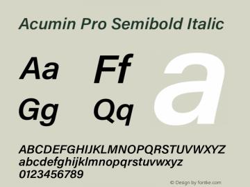 AcuminPro-SemiboldItalic Version 1.011图片样张