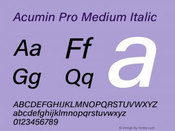 AcuminPro-MediumItalic Version 1.011图片样张