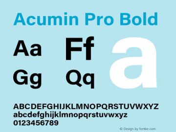AcuminPro-Bold Version 1.011图片样张