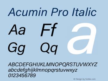 AcuminPro-Italic Version 1.011图片样张