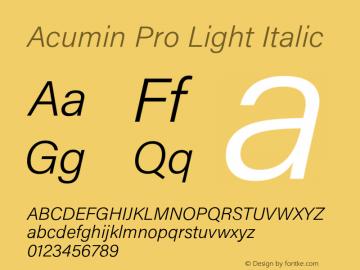 AcuminPro-LightItalic Version 1.011图片样张