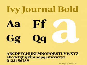 IvyJournal-Bold Version 1.001图片样张