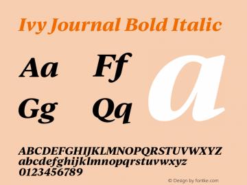 IvyJournal-BoldItalic Version 1.001图片样张