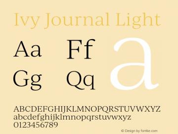 IvyJournal-Light Version 1.001图片样张