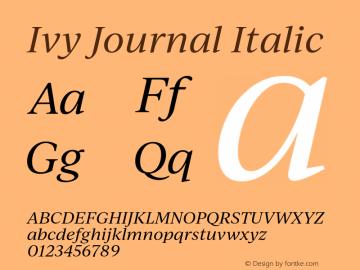IvyJournal-Italic Version 1.001图片样张
