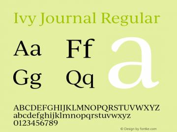 IvyJournal-Regular Version 1.001图片样张