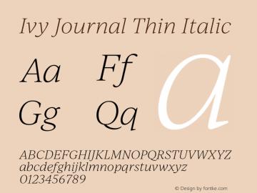 IvyJournal-ThinItalic Version 1.001图片样张
