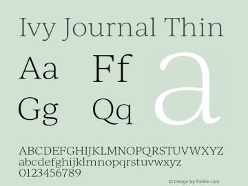 IvyJournal-Thin Version 1.001图片样张