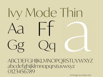 IvyMode-Thin Version 1.001图片样张
