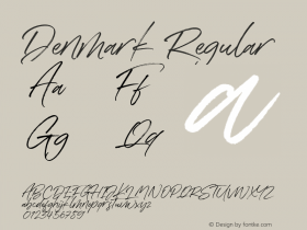 Denmark Version 1.00;June 24, 2019;FontCreator 11.5.0.2430 64-bit图片样张