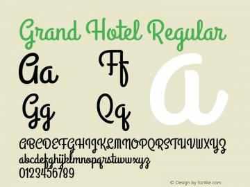 GrandHotel-Regular Version 001.000图片样张