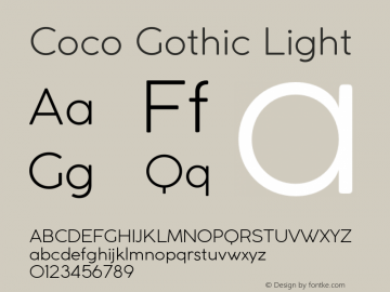 CocoGothic-Light Version 2.001图片样张