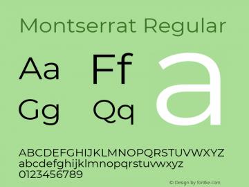 Montserrat Regular Version 7.200图片样张