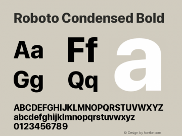 Roboto Condensed Bold Version 0.00;June 22, 2019;FontCreator 11.5.0.2430 64-bit图片样张