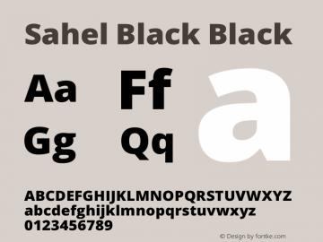 Sahel Black Version 1.0.0 Font Sample