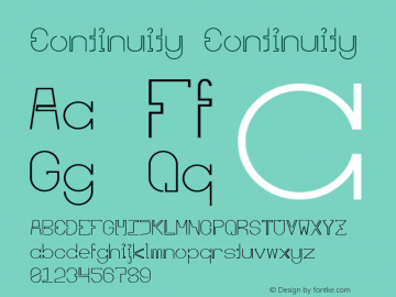 Continuity 图片样张