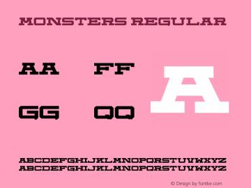 Monsters Version 1.00;July 8, 2019;FontCreator 12.0.0.2522 32-bit图片样张