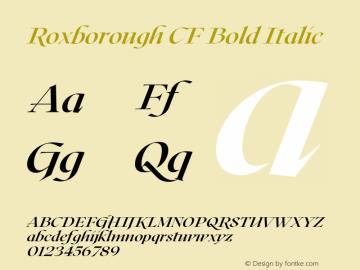 Roxborough CF Bold Italic Version 1.000;PS 001.000;hotconv 1.0.88;makeotf.lib2.5.64775图片样张