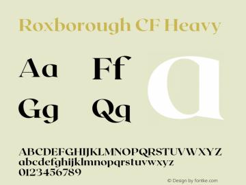Roxborough CF Heavy Version 1.000;PS 001.000;hotconv 1.0.88;makeotf.lib2.5.64775图片样张
