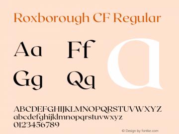 Roxborough CF Regular Version 1.000;PS 001.000;hotconv 1.0.88;makeotf.lib2.5.64775图片样张