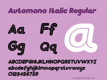 Automono Italic Regular Version 1.000图片样张