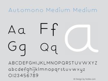 Automono Medium Thin 图片样张