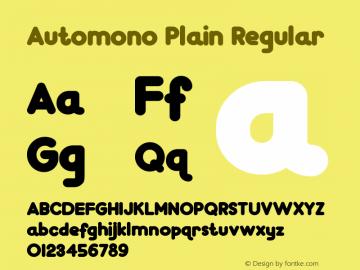 Automono Plain 图片样张