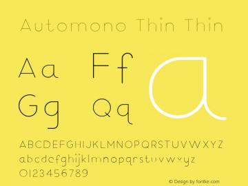 Automono Thin 图片样张