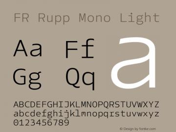 FR Rupp Mono Light Version 1.000图片样张