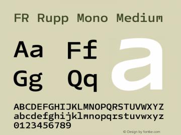 FR Rupp Mono Medium Version 1.000图片样张