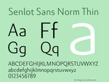 SenlotSansNorm-Thin Version 1.000图片样张