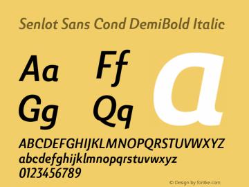 SenlotSansCond-DemiBoldItalic Version 1.000图片样张