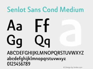 SenlotSansCond-Medium Version 1.000图片样张