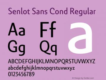 SenlotSansCond-Regular Version 1.000图片样张