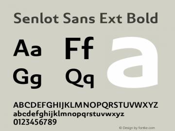 SenlotSansExt-Bold Version 1.000图片样张