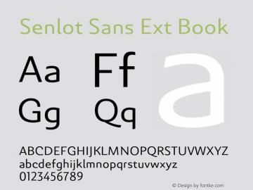 SenlotSansExt-Book Version 1.000图片样张