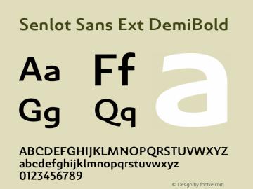 SenlotSansExt-DemiBold Version 1.000图片样张