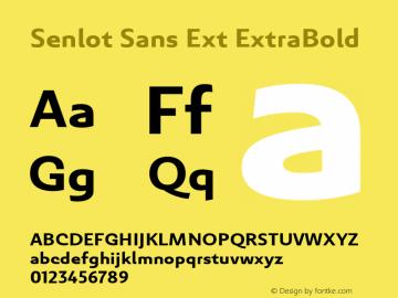 SenlotSansExt-ExtraBold Version 1.000图片样张