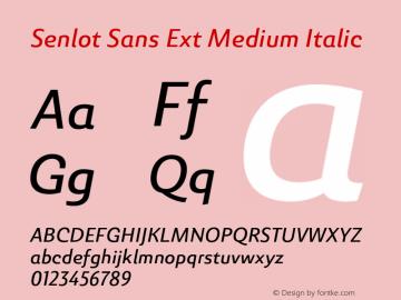 SenlotSansExt-MediumItalic Version 1.000图片样张