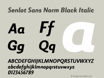 SenlotSansNorm-BlackItalic Version 1.000图片样张