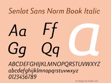SenlotSansNorm-BookItalic Version 1.000图片样张