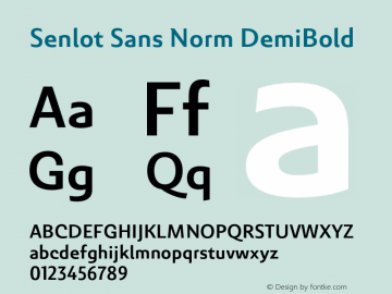 SenlotSansNorm-DemiBold Version 1.000图片样张