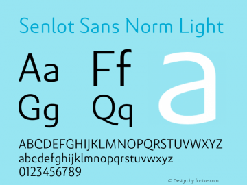 SenlotSansNorm-Light Version 1.000图片样张