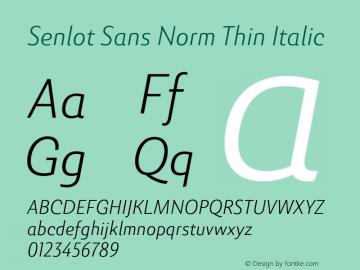 SenlotSansNorm-ThinItalic Version 1.000图片样张