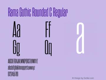 RamaGothicRoundedC-Regular Version 1.000;PS 001.000;hotconv 1.0.88;makeotf.lib2.5.64775图片样张