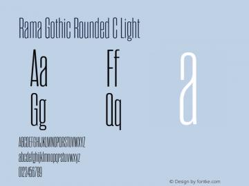RamaGothicRoundedC-Light Version 1.000;PS 001.000;hotconv 1.0.88;makeotf.lib2.5.64775图片样张